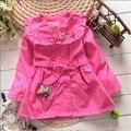 BibiCola Retail 2015 muchachas de la ropa niños otoño chaquetas chaqueta de abrigo de primavera otoño bebé capa de la muchacha cabritos de la manera
