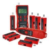 Сети Ethernet LAN телефонный Провода кабель Длина тестер RJ45 RJ11 BNC Кабельный тестер Tracker с 8 удаленного адаптер Провода карта USB
