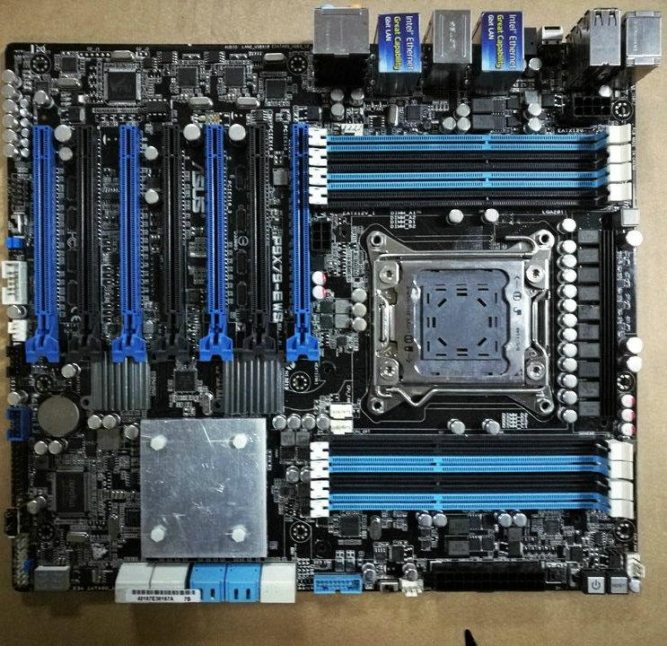 P9X79-E WS материнская плата 2011 системная плата 2011 Pin DDR3, физическая карта, без оригинальный радиатор
