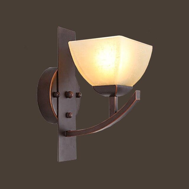 HGHomeart E27 Wandleuchte Retro Wandleuchten LED Eisen Lesebett Loft  Lichter Leuchte Auf Der Wand Vintage Bad