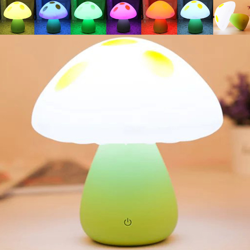 Jiaderui Novelty Induction Nightlight Dream Mushroom Fungus LED Night Light Lamp Color Changing for Kids Room Decor or as a Gift