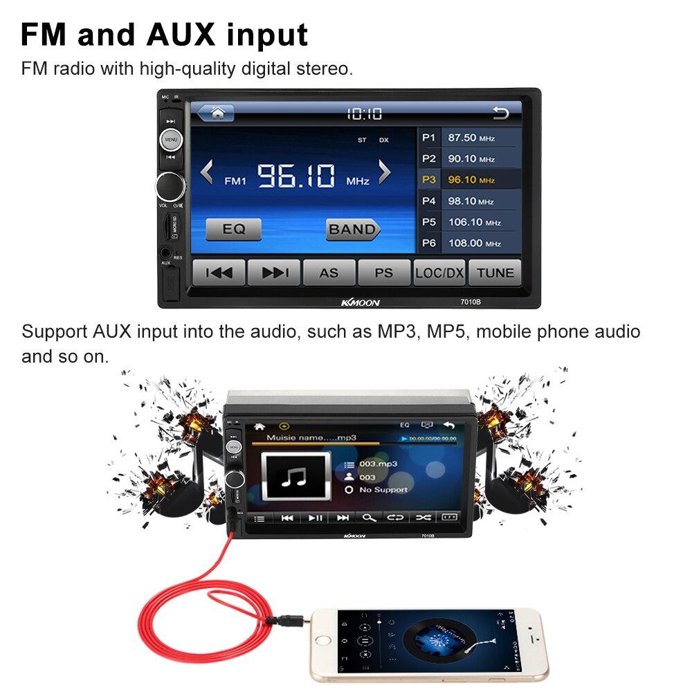 7 Универсальный двойной 2 DIN Автомобильный mp5-плеер автомобиля Авторадио MP3/MP4 мультимедийный плеер автомобиля стерео аудио плеер HD БТ развлечения