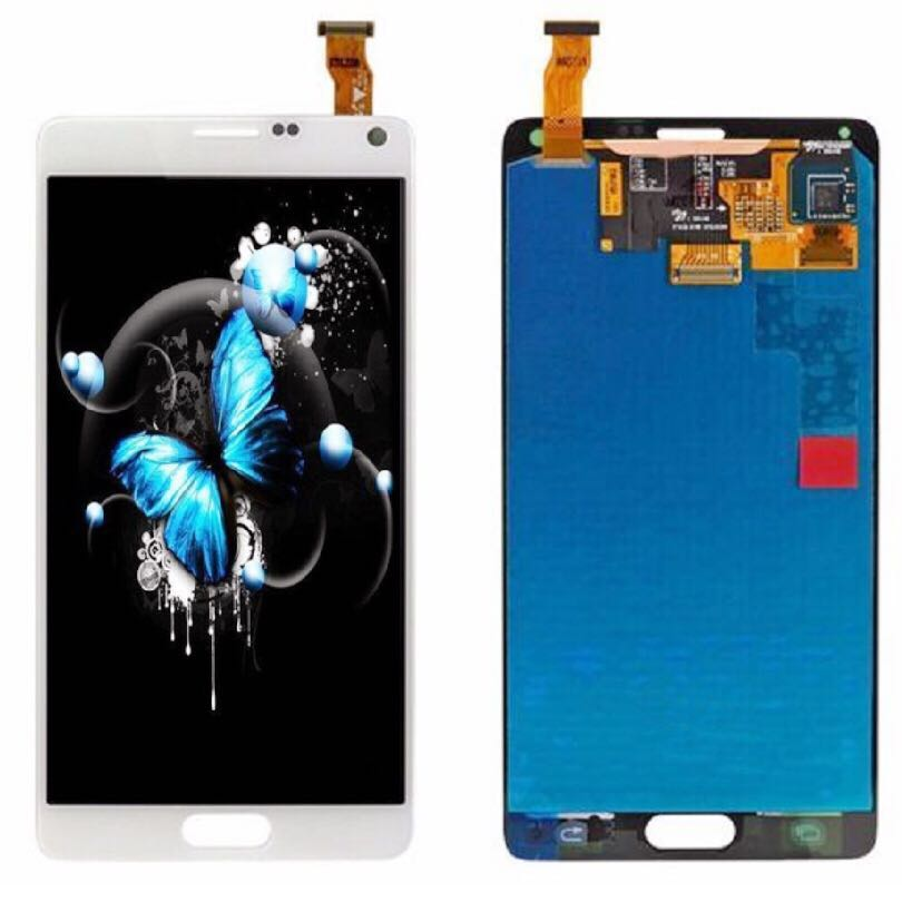 5 7 AMOLED Screen For font b SAMSUNG b font Galaxy Note 4 LCD Display Replacent