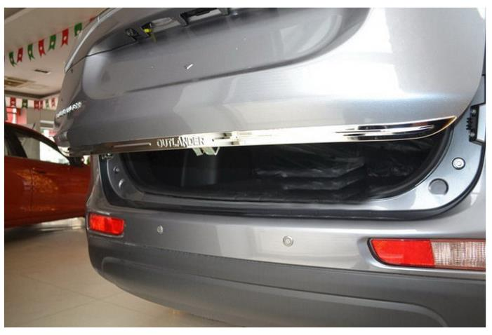 ФОТО Stainless steel REAR BUMPER STREAMER trims COVER for Mitsubishi Outlander 13-14