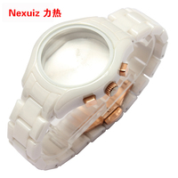 The NEW Watchbands 18mm High Quality Ceramic Watchband White Diamond Watch For AR1417 Man Watches Bracelet