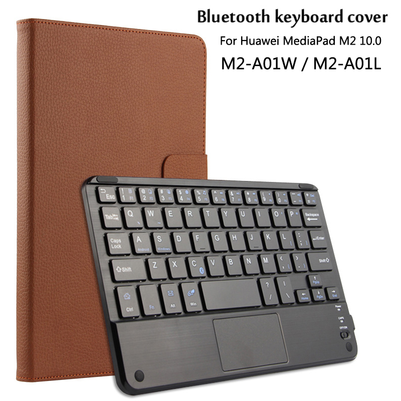 Wireless Bluetooth Keyboard+PU Leather Cover Protective Smart Case For Huawei MediaPad M2 10 M2-A01W/A01L 10.1''Tablet Case+Gift 2 in 1 removable wireless bluetooth keyboard case for huawei mediapad t2 10 0 pro m2 youth pu leather folio cover abs keypad