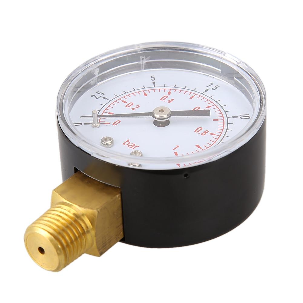 TS-50-15psi 0/15 PSI 0/1 Bar Manometro manometro Compressore di gas - Strumenti di misura - Fotografia 4