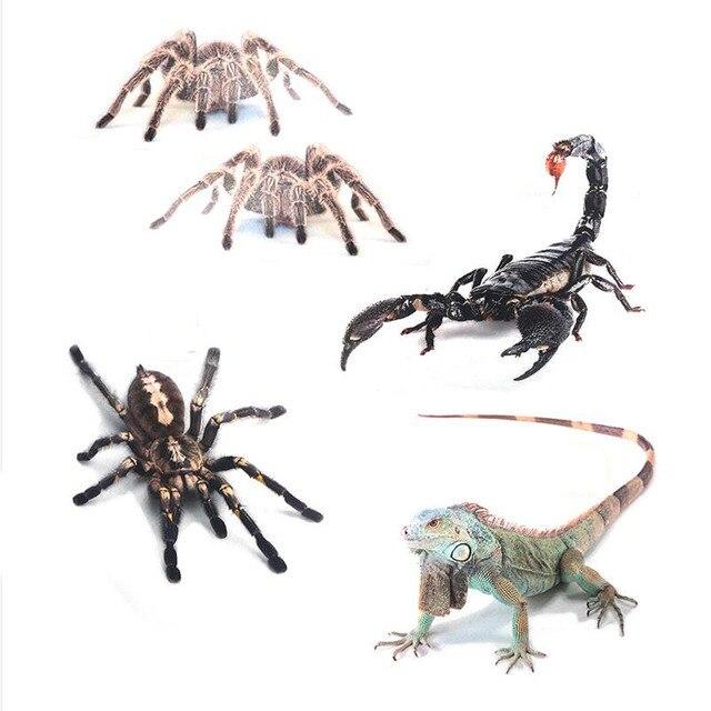 3D Car Sticker Simulation Animals Bumper Retrofit Stickers for Spider Gecko Scorpions Lizard Emblem Car-Styling Cartoon Decals