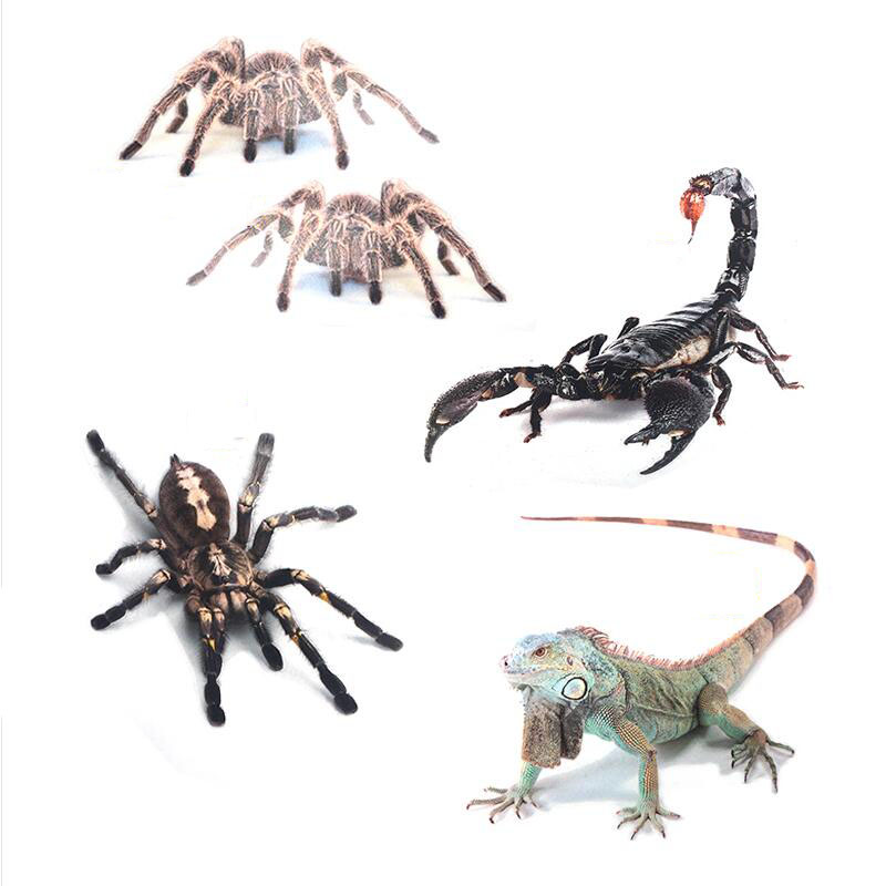 Spider Scorpion Lizard Emblem Badge Car Sticker 3D Decals Cartoon Mark Logo Car Styling Shelter Scratches Auto Stickers customized badge holder lanyard company logo print personalized lanyard printing badge accessories