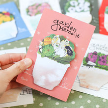 cute flower Sticky Notes Post It Memo Pad kawaii stationery School Supplies Planner Stickers Paper Bookmarks Free shipping