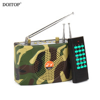 DOITOP Camouflage 1000M Wireless Remote Control Outdoor Teaching Loudspeaker Camping Sound Speaker Voice Amplifier MP3 Player
