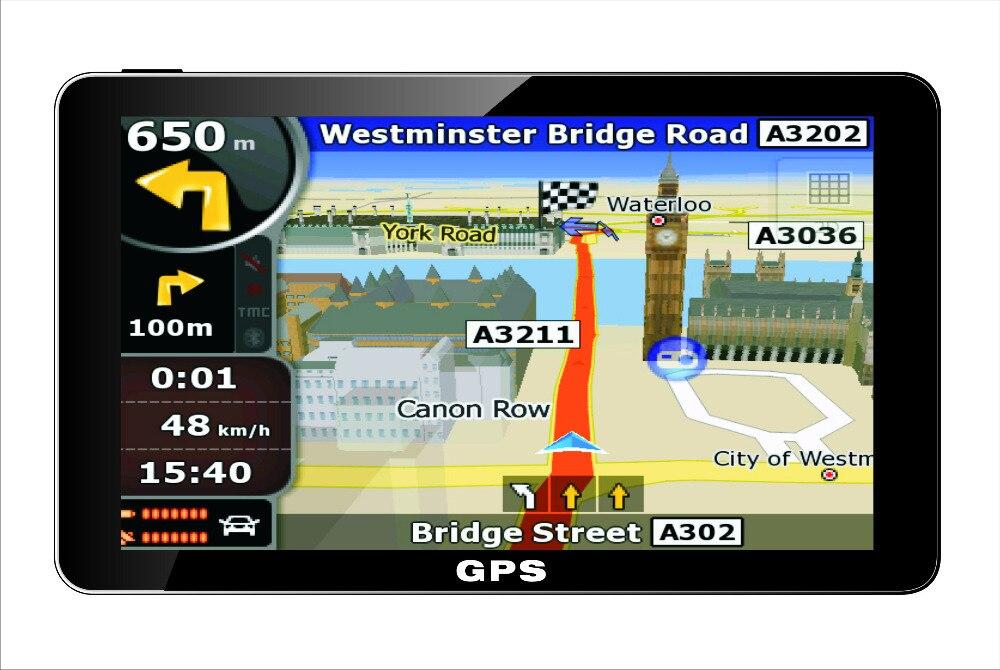 Inch Car Truck Gps Navigation Sat Nav Navigator  Europe India Australia American Map Navitel