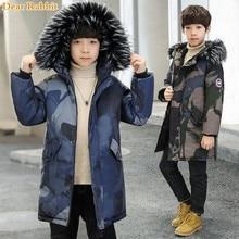 2019 niños ropa niños chaquetas de invierno con capucha gruesa abrigos casual caliente abajo algodón parkas niños ropa de camuflaje al aire libre