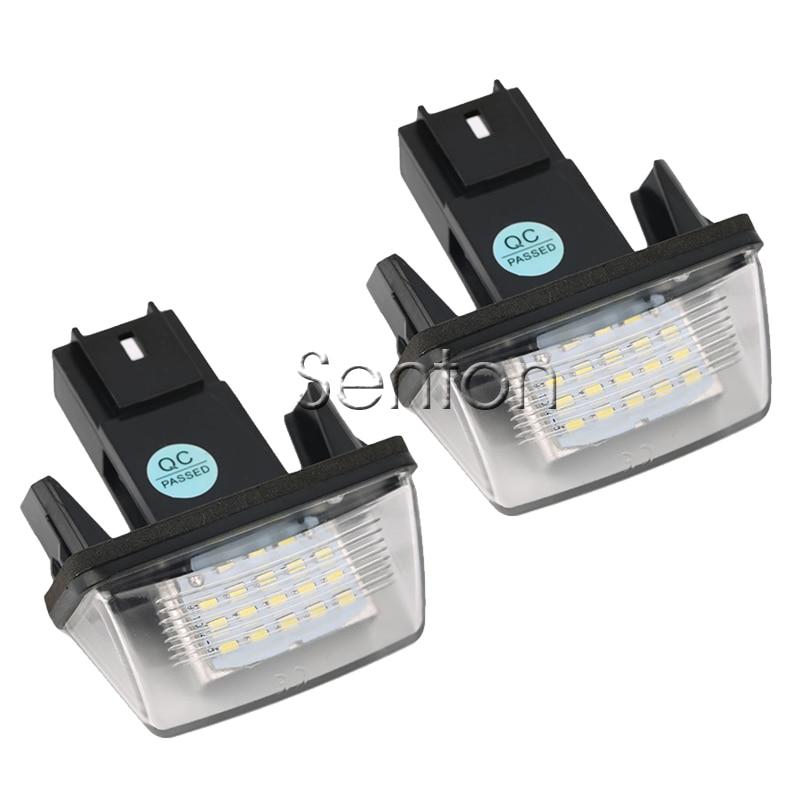 Автомобиль 1 пара светодиодов количество освещение номерного знака 12 В Белый SMD светодиодные лампы автомобилей стайлинг для Peugeot 307 206 207 306 308 для Ситроен С4 С5 С3