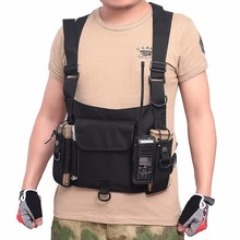 chest rig Tactical Vest Multifunctional Nylon Radio military Strategy Pocket With Pocket Vest On Chest Call Combat Hunting Vest