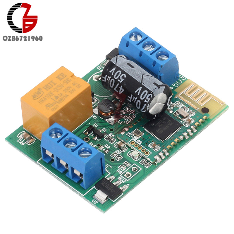 ZL-RC01B Bluetooth 4.0 BLE Controlled 1 Channel Relay Module 6-24V 10A for Android IOS IOT Smart Home Switch fc 16 b 1 channel 24v relay module blue