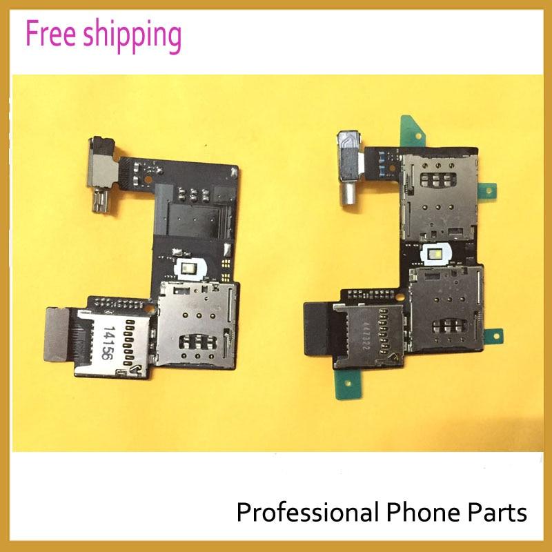 Original For Motorola Moto G2 XT1068 XT1069 Sim Card Holder Micro SD Memory Socket Slot Tray Flex cable