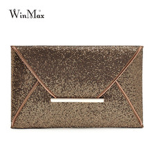 Neue Design Mode Frauen Abendtaschen Partei Handtaschen Geldbörsen Weibliche PU Pailletten Haspe Umschlag Taschen Frauen Kleine Kupplung Handtaschen