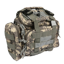 Multifunctional Fishing Bag Lure Bag Fishing Tackle Bag Backpack Waist Pack Outdoor Bag 30*18*20cm with Shoulder Strap