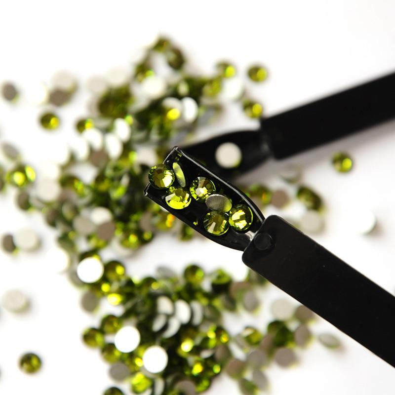 DIY Glitter SS3-SS34 Olivine Flat Back Nail Rhinestone 3D Non HotFix - Մանիկյուր - Լուսանկար 1