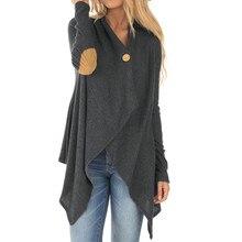ffa49075696 JAYCOSIN ropa de mujer 2018 manga larga Patchwork Irregular delante Outwear  abrigo Catton suéter YY30(
