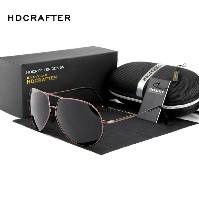 Nuevo 2016 hdcrafter polarizado gafas de sol hombre diseñador de la marca de moda al aire libre masculino google vintage aviator conductor pesca e510