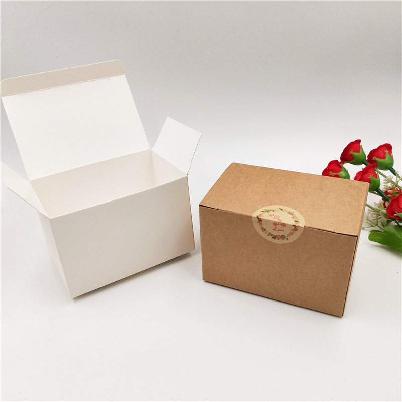 20 Pcs Kraft Paper Craft Box Small White Soap Cardboard Paper Packing/package Box Brown Candy Gift Jewelry Packaging Box