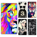 FOR Sony Xperia Z Case Cover L36H L36 L36i C6603 C6602 LT36 Colorful Painting Phone Back Protector FOR Sony Z Case Cover
