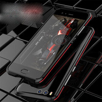 Aluminum Frame Metal Cover With Strap For Xiaomi 6 Mi 6 Case Bumper Shockproof Ultra Thin