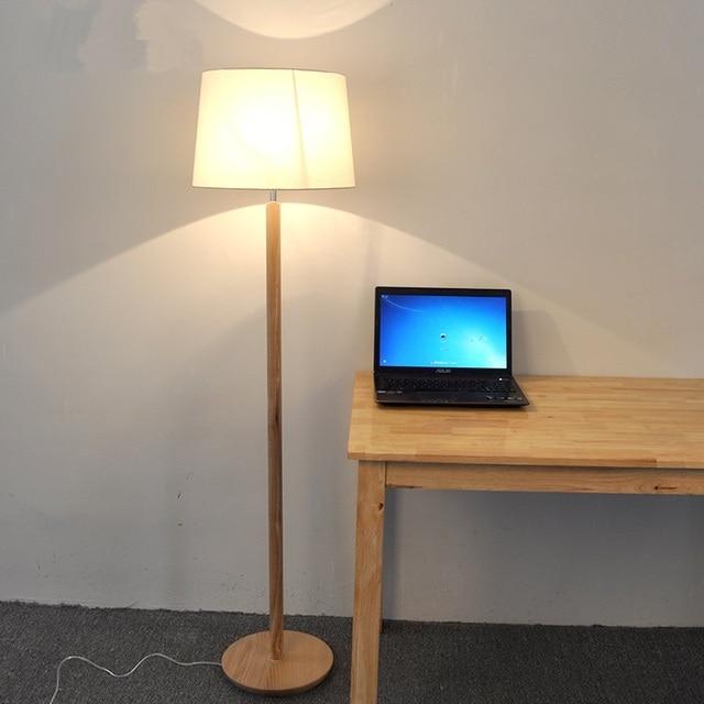 Nordic massief houten vloer lampen wit eenvoudige woonkamer ...