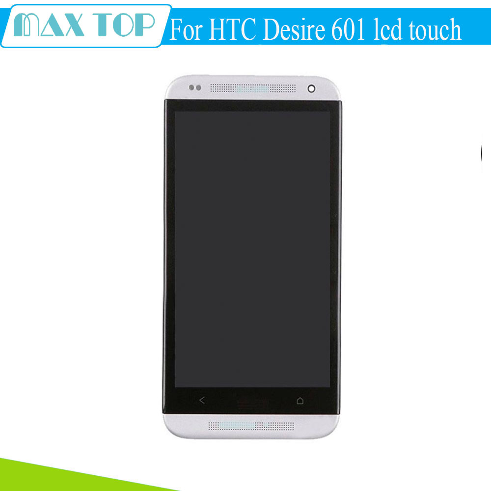 ФОТО 100% tested For HTC Desire 601 LCD Display With Touch Screen Digitizer +Frame Accessories Replacement Parts 960*540