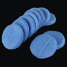 10Pcs 5inch Car Microfiber Wax Applicator Pads W/ Pocket Polishing Pad Sponges Kit For Applying Polishes Waxes Sealants Wash