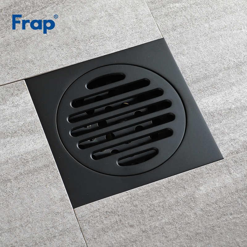 Frap новые сливы Медь Ванная комната черные сточные воды покрытие для пола анти-запах Санузел Душ сливной фильтр оборудование для ванной Y38106