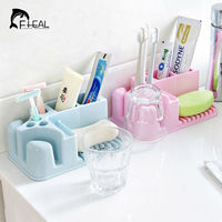 Multifunction rectangle kitchen bathroom shower storage box toothbrush toothpaste tooth mug cleanser cosmetic organization shelf.jpg 200x200
