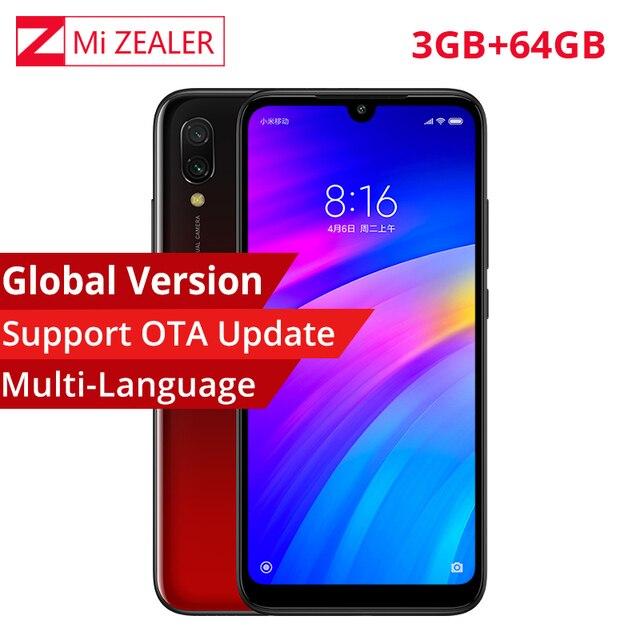 "In Stock Global Version Xiaomi Redmi 7 Mobile Phone 3GB+64GB Snapdragon 632 Octa Core 4000mAh 6.26"" 19:9 Full Screen Smartphone"