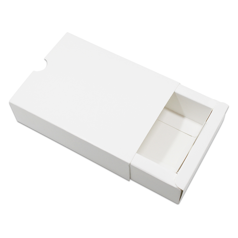 DHL Blanc Kraft Papier Tiroir Boîte Carton D'emballage Conception Faveurs De Mariage En Carton Bijoux Parti Cadeau Artisanat Savon Emballage Boîte