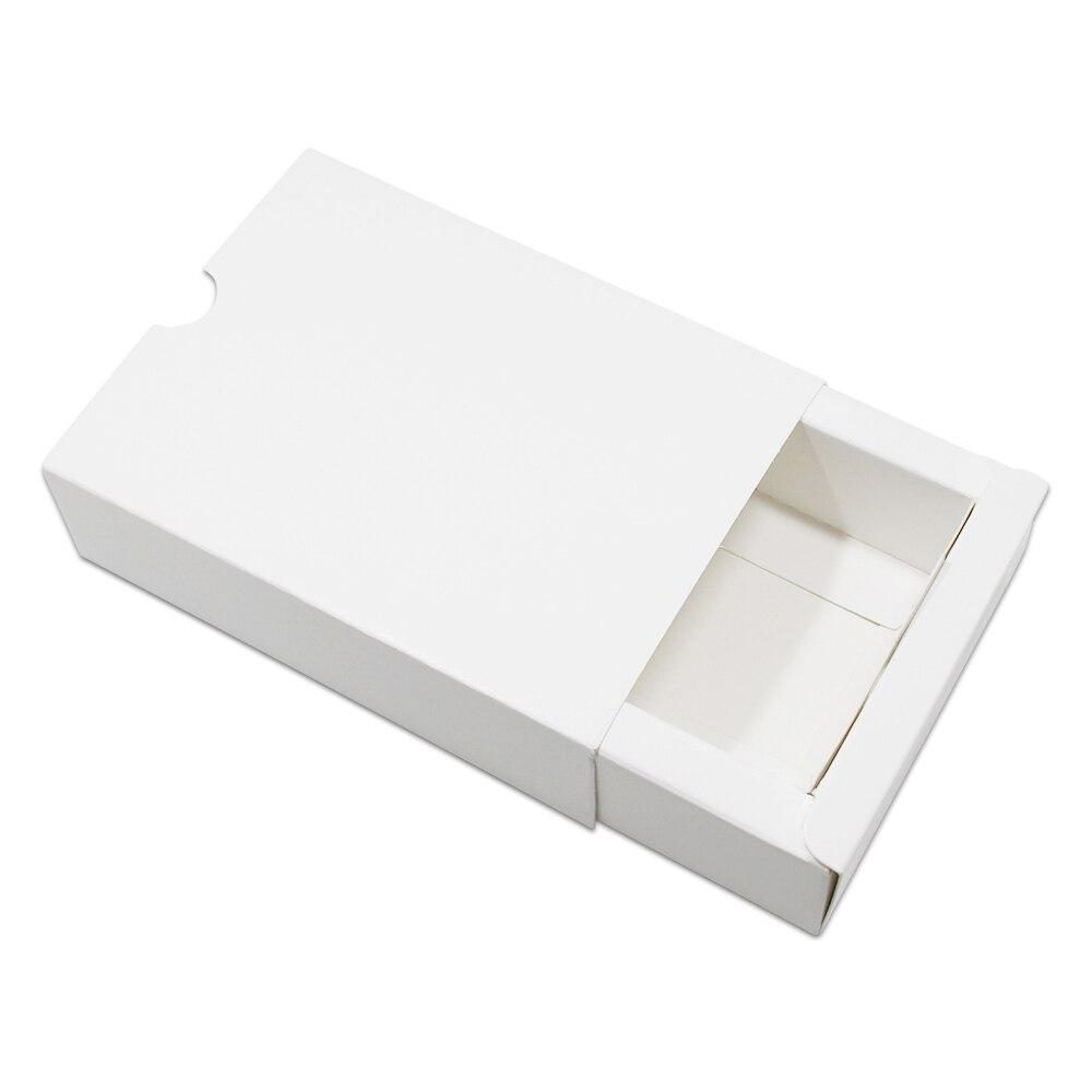 DHL blanc Kraft papier tiroir boîte carton emballage conception mariage faveurs carton bijoux fête cadeau artisanat savon emballage boîte