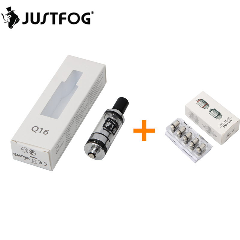 Original JUSTFOG Q16 Clearomizer Tank 1,9 ml Mit 5 stücke Unteren Spule 1.6ohm Für E zigaretten Q16 J-Einfach 9 Vape Batterie
