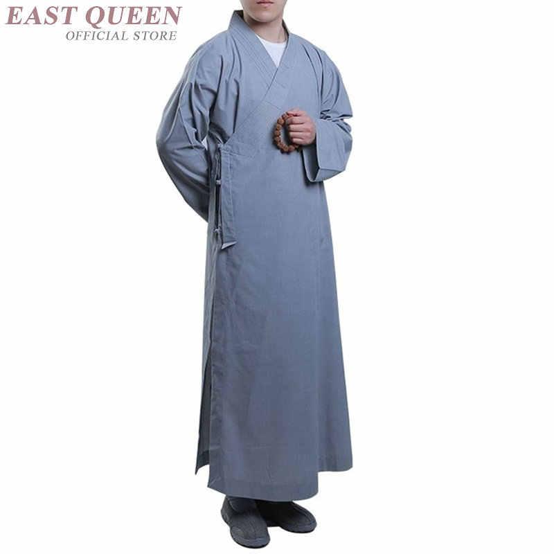 僧侶のローブ服衣装少林寺の僧の服僧侶服制服瞑想服 KK2261 Y