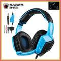 2016 Nova SA-920 SADES Gaming Headset Estéreo 7.1 Surround Sound Effect usb jogo fones de ouvido com microfone para pc gamer ps4 xbox 360