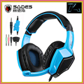 2016 Nueva SA-920 SADES Gaming Headset Stereo 7.1 Efecto de Sonido Envolvente usb juego de auriculares con micrófono para pc gamer xbox 360 ps4