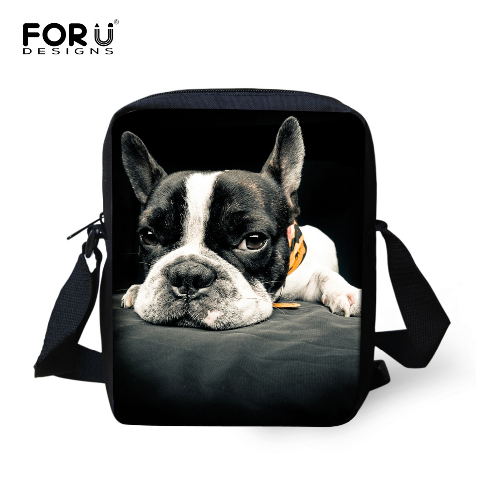 Marca Original Animal Messenger Bag For Girl Lindo Bulldog Francés Casual Cross Body Bag Damas España Mujeres Diseñador Bolsos Mujer