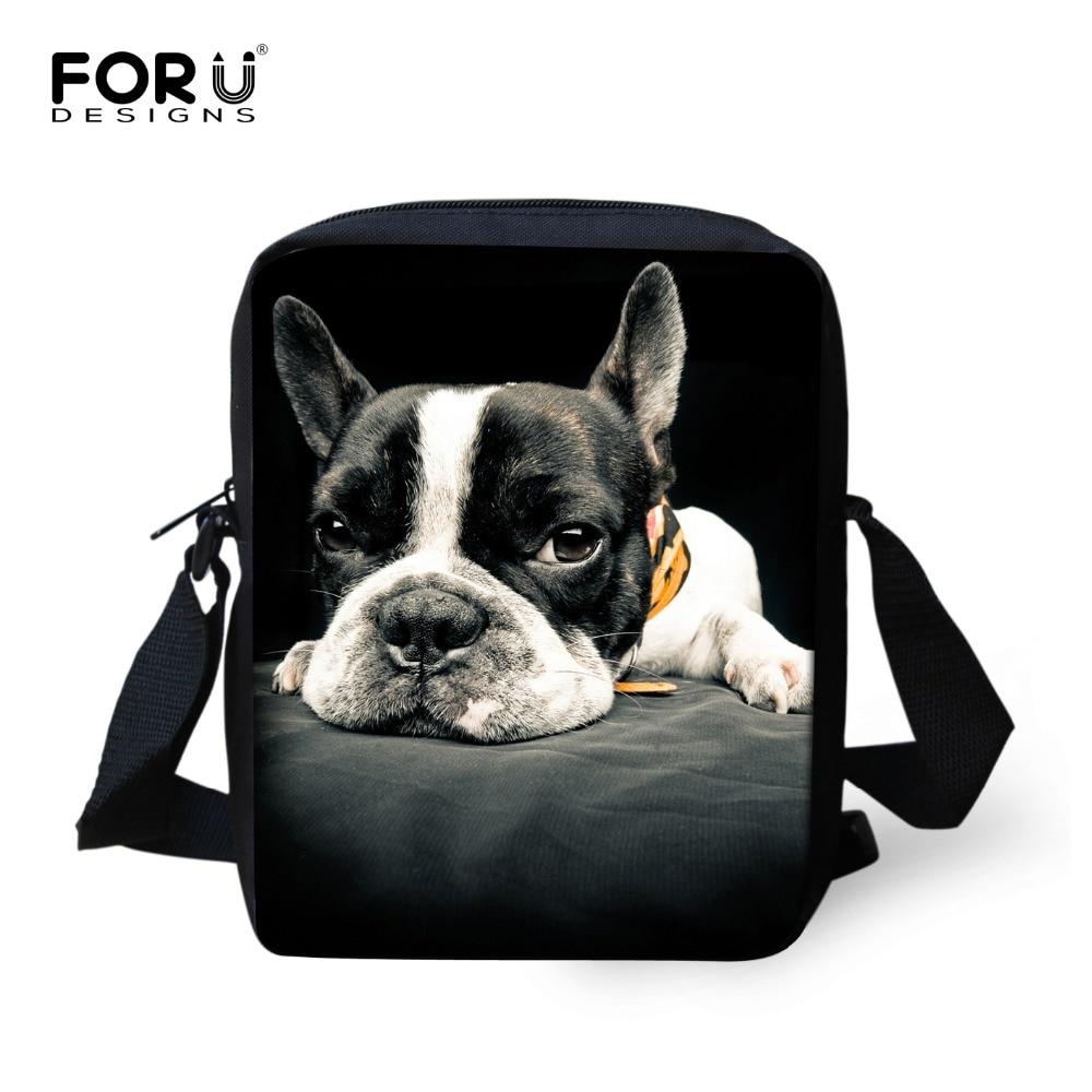 Brand original animal messenger bag for girl cute french bulldog casual cross body bag ladies spain