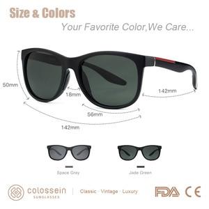 Image 3 - COLOSSEIN Female Sunglasses Men Polarized Classic TR90 Square Glasses Frame Men Sunglasses Vintage Driving Sun Glasses Eyewear