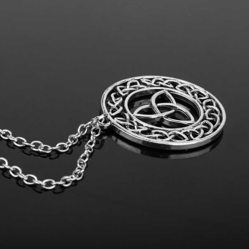 MQCHUN Outlander Scozzese Irlandese Celtic Knot Eternity Croce Trinity Pendente Della Collana Della Catena