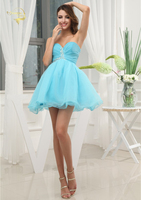 High School University Mini Cocktail Party Ball Gown Sexy Prom Dress Sweetheart Beaded Short Homecoming Dresses