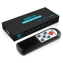 HDMI Splitter Switch 5 Input 1 Output 4K HDMI Switcher 5×1 for PC Laptop XBOX 360 PS3 PS4 Nintendo Switch 4K HDMI Adapter