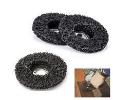 5 adet aşındırıcı aletler 115mm poli şerit tekerlekleri boya pas temizleme Clean açılı taşlama diskleri