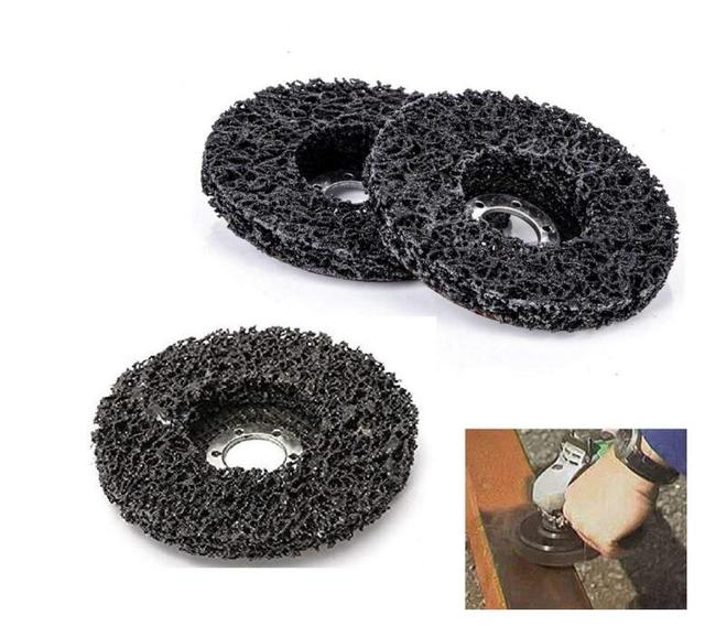 5pcs Abrasive Tools 115mm Poly Strip Wheels Paint Rust Removal Clean Angle Grinder Discs