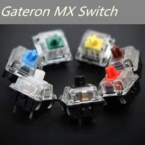 Image 1 - Gateron mx schalter 3 pin adn 5 pin transparent fall mx grün braun blau schalter für mechanische tastatur cherry mx kompatibel